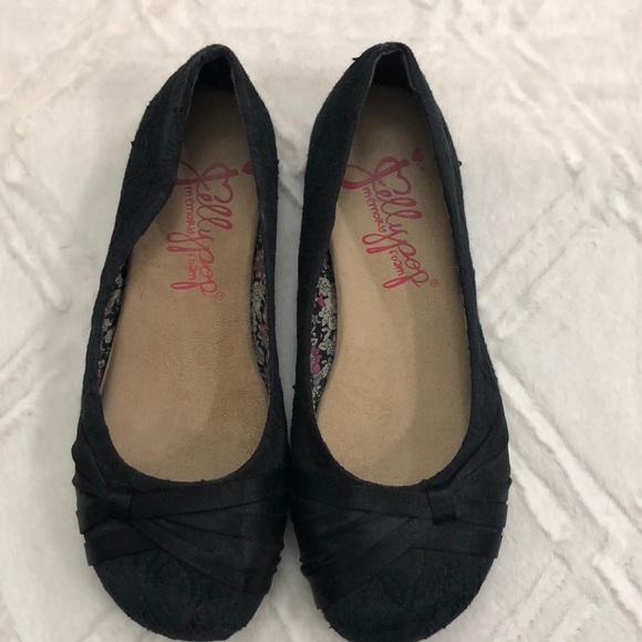 Jelly Pop Size 95m Black Lace Flats